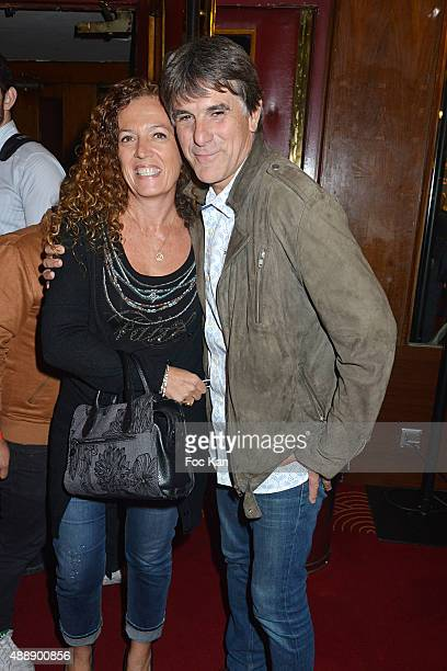 TV presenter Tex and his wife attend the '35th Nuit des Publivores' at Grand Rex September 17 2015 in Paris France