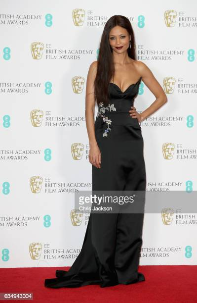 Presenter Thandie Newton poses in the winners room during the 70th EE British Academy Film Awards at Royal Albert Hall on February 12 2017 in London...