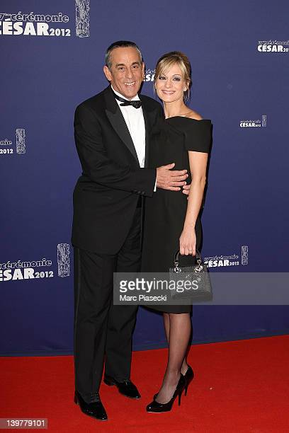 TV presenter Thierry Ardisson and Audrey CrespoMara attend the 37th Cesar Film Awards at Theatre du Chatelet on February 24 2012 in Paris France