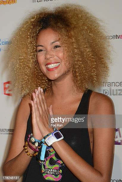 Presenter Tiga aka. Sophie Ducasse attends the 'Rentree France Televisions' photocall at Palais de Tokyo on August 27, 2013 in Paris, France.
