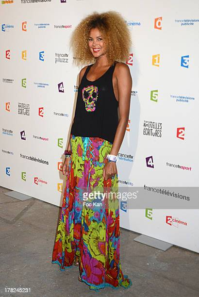 TV presenter Tiga aka Sophie Ducasse attends the 'Rentree France Televisions' photocall at Palais de Tokyo on August 27 2013 in Paris France