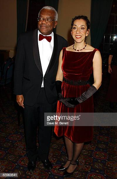 TV presenter Trevor McDonald and Writer Andrea Levy attends the afterparty following the Whitbread Book Awards 2004 at the The Brewery on January 25...