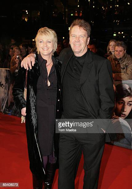 TV presenter Ulla Kock am Brink and producer Theo Baltz attend the Berlin premiere of Nordwand at the CineStar on October 23 2008 in Berlin Germany