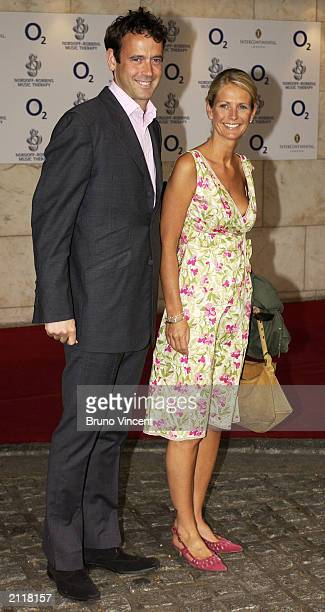 TV presenter Ulrika Johnson and Lance GerrardWright attend the Nordoff Robbins Silver Clef Awards at The Intercontinental Hotel June 27 2003 in London