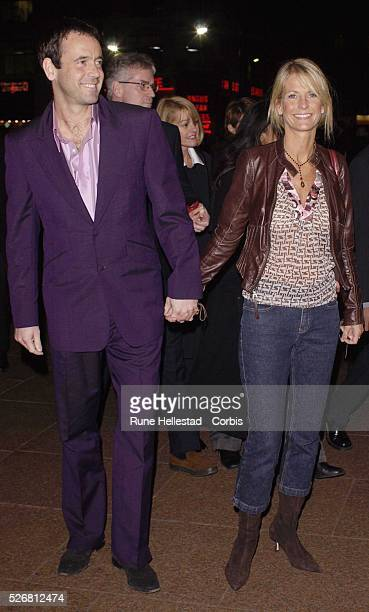 TV presenter Ulrika Jonsson and Mr Right aka Lance GerrardWright attend the London premiere of the movie Catch Me If You Can