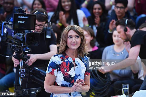 Presenter Victoria Derbyshire hosts How Should I Vote The EU Debate at The Briggait on May 26 2016 in Glasgow The BBC's first televised EU referendum...