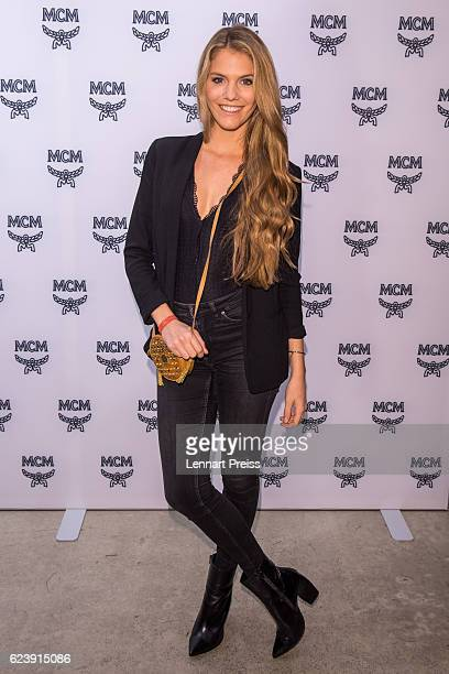 TV presenter Viviane Geppert attends the MCM 40th Anniversary event on November 17 2016 in Munich Germany