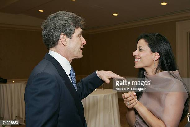 Presenter Warner Bros President and COO Alan Horn and Cohost Bahar Soomekh attend the Literacy Networks' LIMA awards dinner on April 29 2007 in Los...