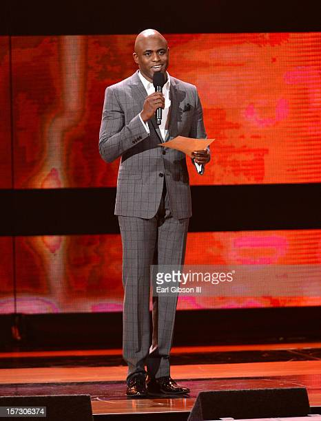 Presenter Wayne Brady speaks onstage during UNCF's 34th annual An Evening Of Stars held at Pasadena Civic Auditorium on December 1 2012 in Pasadena...
