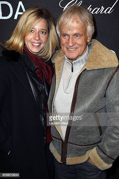 Presenter Wendy Bouchard and Singer Dave attend 'Dalida' Paris Premiere at L'Olympia on November 30 2016 in Paris France