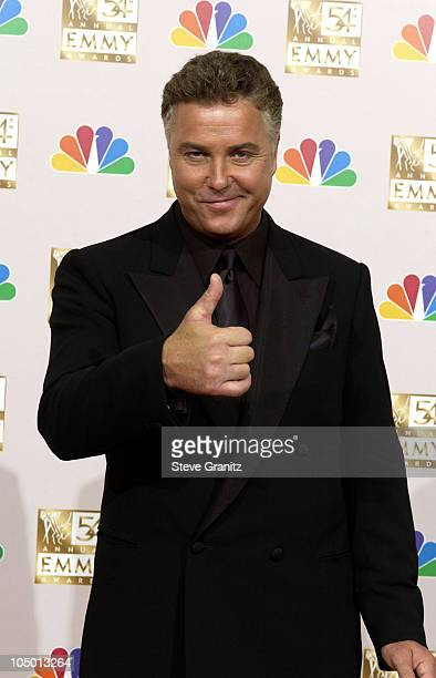 Presenter William Petersen at the 54th Annual Emmy Awards