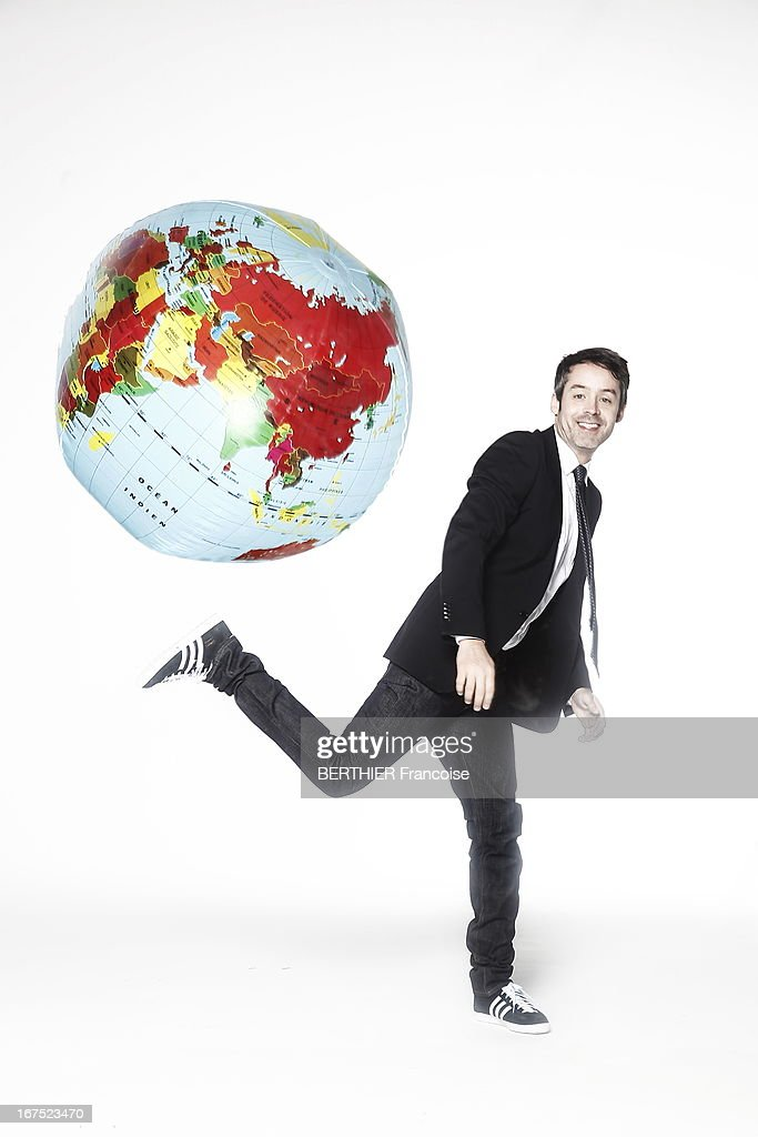 TV presenter Yann Barthe poses on April 10, 2013 in Paris, France.