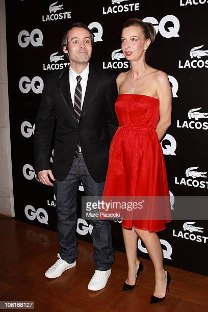 TV presenter Yann Barthes and Anne Boulay attend the 'GQ Man of the year 2010' at ShangriLa Hotel Paris on January 19 2011 in Paris France