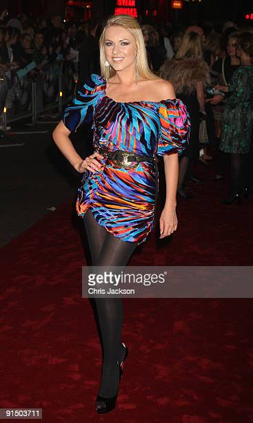 """Presenter Zoe Salmon attends """"The Imaginarium Of Doctor Parnassus"""" UK film premiere held at the Empire Leicester Square on October 6, 2009 in London,..."""