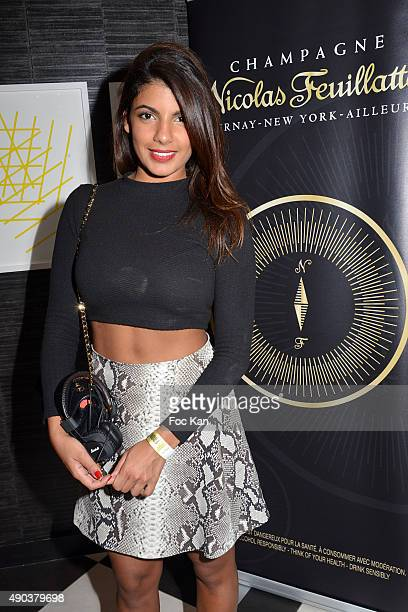 TV presenter/actress Donia Eden from Le Journal Du Hard on Canal Plus TV attends the 'Fromage Fashion Week Menu Day' at Sofitel Stay Hotel on...