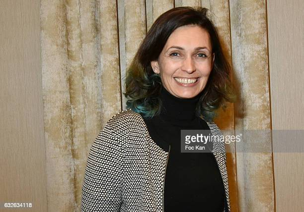 TV presenter/comedian Adeline Blondieau attends the Chinese Business Club Cocktail during Paris Fashion Week Haute Couture Spring Summer 2017 at...
