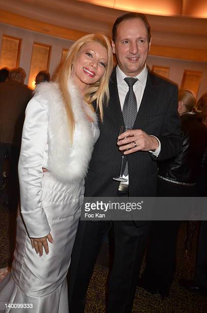 TV presenter/culinary journalist Nadine Rodd and her husband Patrice Gravelin attend the Nadine Rodd Wedding Cocktail Party at Salon Diane at the...