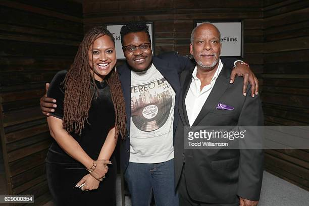 Presenter/nominee Ava DuVernay Rob Jackson and honoree Stanley Nelson attend the 32nd Annual IDA Documentary Awards at Paramount Studios on December...