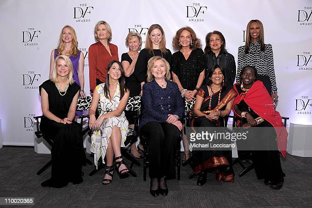 Presenters actress Laura Linney anchorwoman Diane Sawyer The Daily Beast and Newsweek editorinchief Tina Brown Chelsea Clinton designer Diane von...
