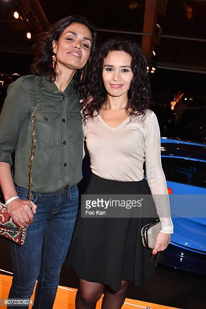 TV presenters Aida Touihri and Laurence Roustandjee attend the 'Pirelli Calendar by Annie Leibovitz' Launch Party At Hotel National Des Invalides on...