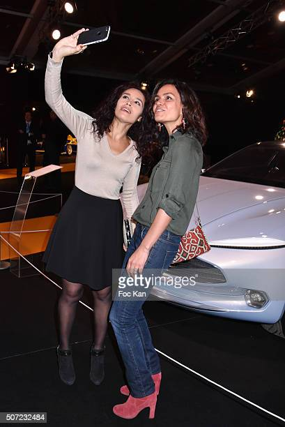 TV presenters Aida Touihri and Laurence Roustandjeer attend the 'Pirelli Calendar by Annie Leibovitz' Launch Party At Hotel National Des Invalides on...