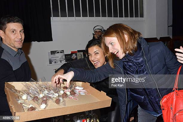 TV presenters Anais Baydemir and Sophie Brafman attend the 'Espace Basus' Opening Party at Au Pied Du Perchoir on December 4 2014 in Paris France
