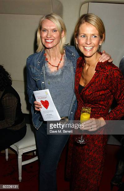 TV presenters Anneka Rice and Ulrika Jonsson attend the Chain Of Hope auction and party in aid of heart surgeon Professor Sir Magdi Yacoub's charity...