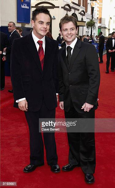 Presenters Ant and Dec arrive at the BAFTA'S 2002 in Drury Lane on April 21st 2002 in London