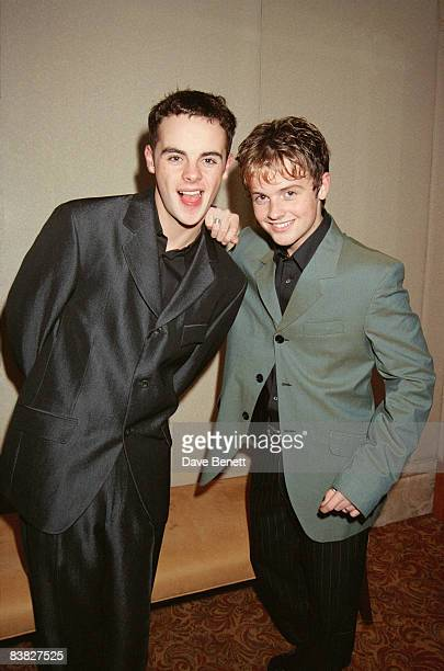 TV presenters Ant and Dec at the London premiere of 'Carrington' held at the Barbican Centre 20th September 1995