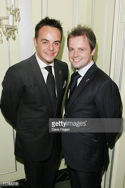 TV presenters Ant McPartlin and Declan Donnelly arrive at the TV Quick and TV Choice Awards at the Dorchester Hotel Park Lane on September 4 2006 in...