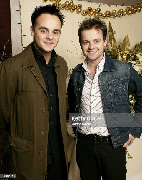 TV presenters Ant McPartlin and Declan Donnelly attend The Great Ormond Street Hospital Charity Fundraiser on December 14 2003 at the Grosvenor House...