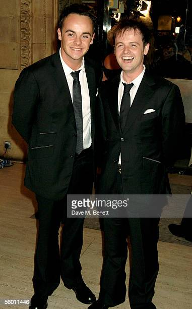 TV presenters Anthony McPartlin and Declan Donnelly arrive at the National Television Awards 2005 at the Royal Albert Hall on October 25 2005 in...