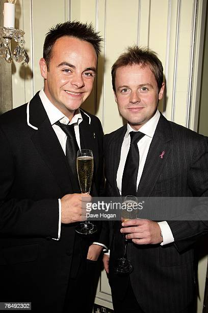 Presenters Anthony McPartlin and Declan Donnelly attend the 2007 TV Quick and TV Choice Awards At the Dorchester Hotel on September 03 2007 in London...