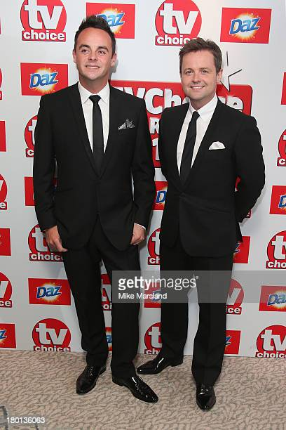 Presenters Anthony McPartlin and Declan Donnelly attend the TV Choice Awards 2013 at The Dorchester on September 9 2013 in London England