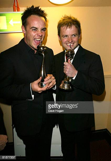 Presenters Anthony McPartlin and Declan Donnelly pose with the awards for Most Popular Entertainment Presenter and Most Popular Entertainment...