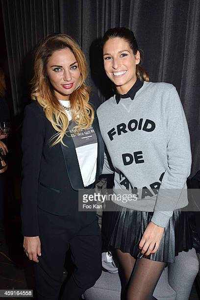 TV presenters Ariane Brodier and Laury Thilleman attend Saperlipopette' Norbert Cremaillere Party on November 17 2014 in Puteaux France