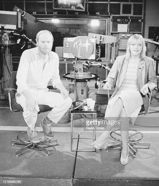 Presenters Bob Harris and Annie Nightingale on the set of the BBC television series 'The Old Grey Whistle Test', 1978.