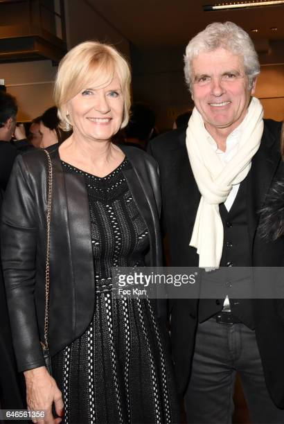 TV presenters Catherine Ceylac and Claude Serillon attend the Mobile Film Festival 2017 award ceremony at MK2 Bibliotheque on February 28 2017 in...