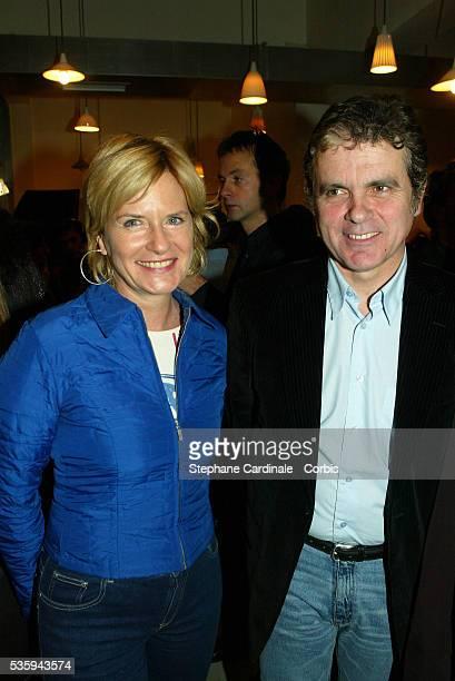 TV presenters Catherine Ceylac and Claude Sérillon