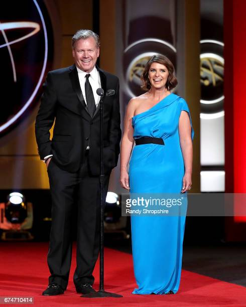 Presenters Chris Hansen and Vivian Howard attend the 44th annual daytime creative arts Emmy awards show at Pasadena Civic Auditorium on April 28 2017...
