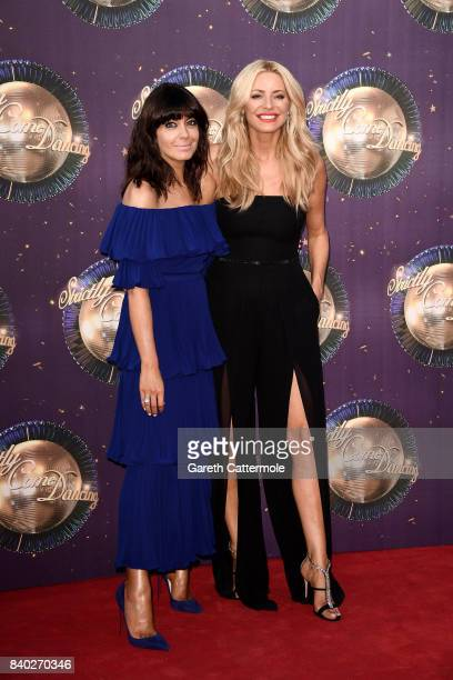 Presenters Claudia Winkleman and Tess Daly attend the 'Strictly Come Dancing 2017' red carpet launch at The Piazza on August 28 2017 in London England