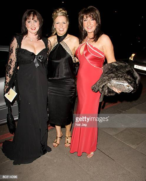 Presenters Coleen Nolan, Jackie Brambles and Jane McDonald arrive at The Royal Television Society Programme Awards held at Grosvenor House Hotel on...