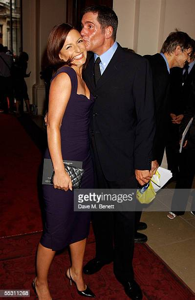 TV presenters Davina McCall and Dale Winton arrive at the GQ Men Of The Year Awards at the Royal Opera House on September 6 2005 in London England...
