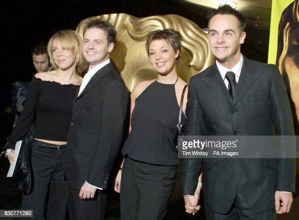 TV presenters Declan Donnelly and Anthony McPartlin arrive for the British Academy Children's Film Television Awards with their partners Claire...