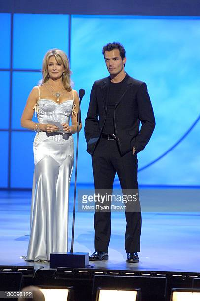 Presenters Deidre Hall and Antonio Sabato Jr at the 32nd annual Daytime Emmys
