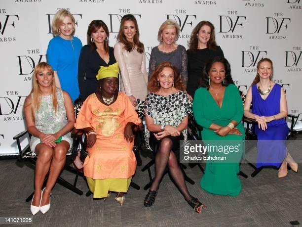 Presenters Diane Sawyer Maria Bartiromo Jessica Alba Tina Brown and Debra Winger honorees Panmela Castro Chouchou Namegabe host Diane von Furstenberg...