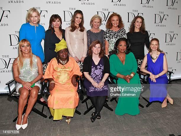 Presenters Diane Sawyer Maria Bartiromo Jessica Alba Tina Brown and Debra Winger honorees Panmela Castro Chouchou Namegabe Jaycee Dugard Oprah...