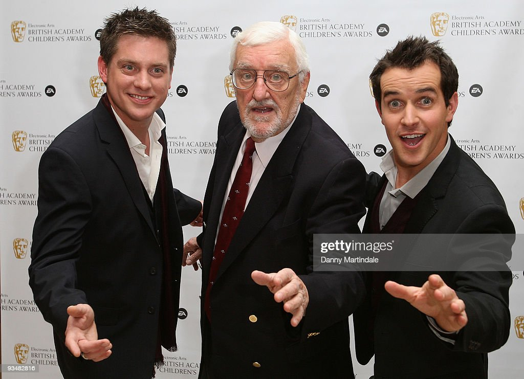 TV presenters Dick and Dom and Bernard Cribbins (C) attends the EA British Academy Children's Awards 2009 at London Hilton on November 29, 2009 in London, England.