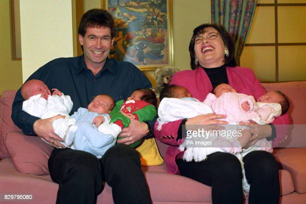 "Presenters Dr Hilary Jones and Lorraine Kelly introduce 6 out of 10 newborn babies who will feature on top woman's magazine programme ""Top of the..."