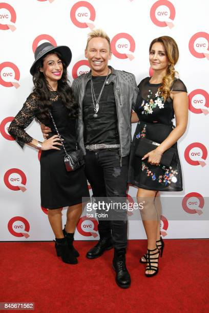 QVC presenters Eileen Maydali Sascha and Shirin Navidy attend a QVC event during the Vogue Fashion's Night Out on September 8 2017 in duesseldorf...